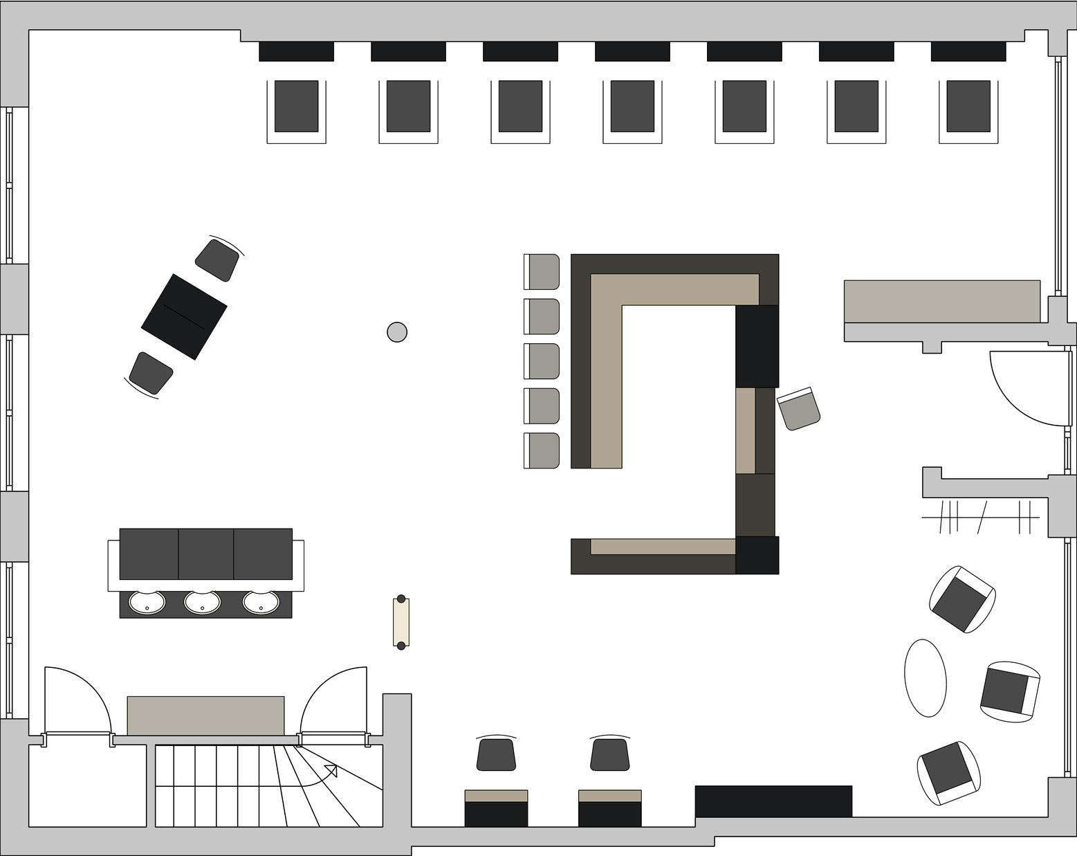 Skizze des Aufbaus des Salon32
